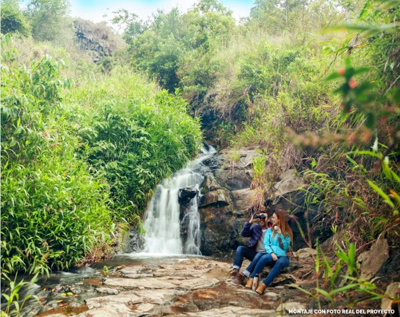 Hermosas Cascadas de agua natural